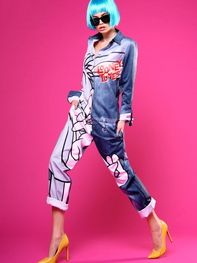 Bugs Bunny printing long sleeve Jumpsuits