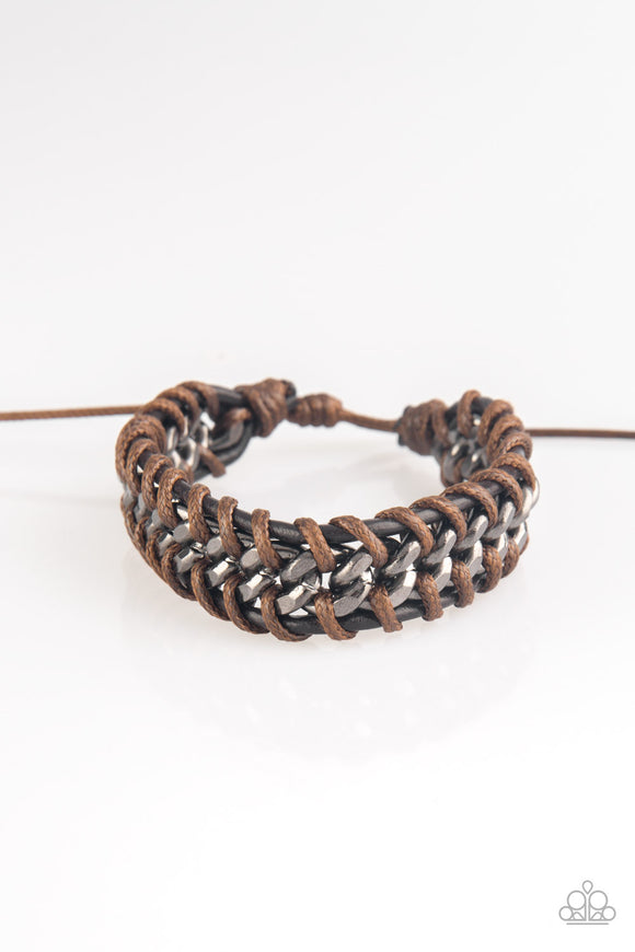 Racer Edge - Brown urban bracelet