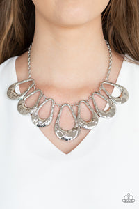 Teardrop Envy - Silver necklace