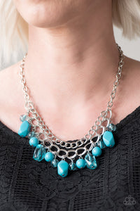 "Paparazzi Necklace/Earring set - ""Brazilian Bay - Blue"""