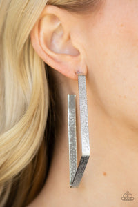 Way Over The Edge - Silver hoops