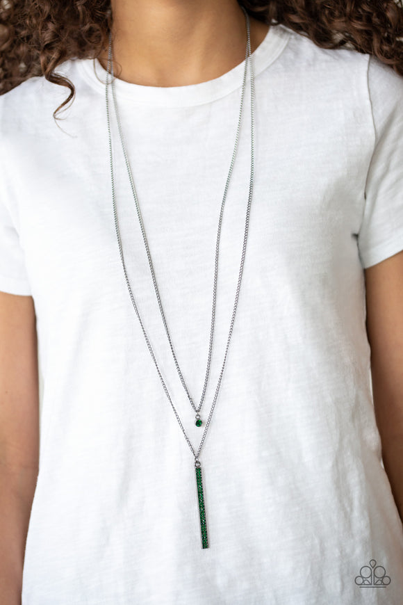 Stratospheric - Green necklace set