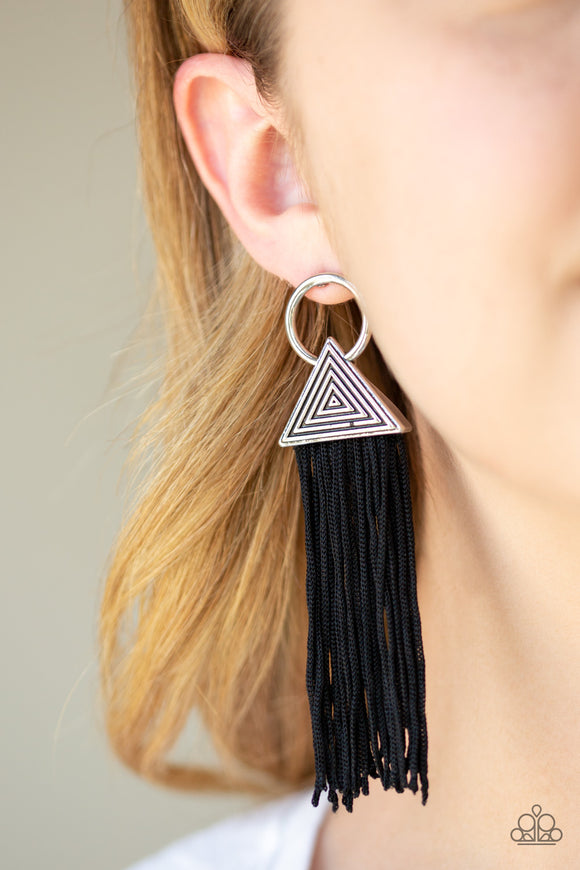 Oh My GIZA - Black earrings