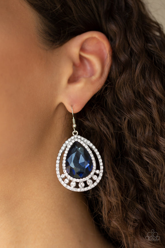 All Rise For Her Majesty - Blue earrings