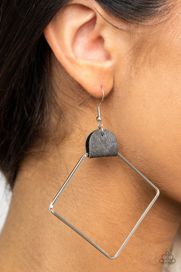 Friends of a LEATHER - Silver earrings