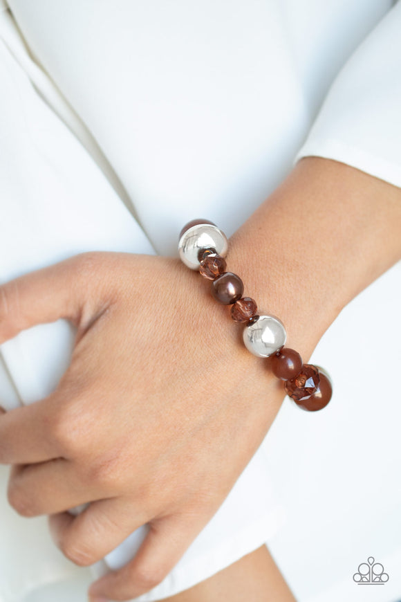 Ice Ice-Breaker - Brown bracelet