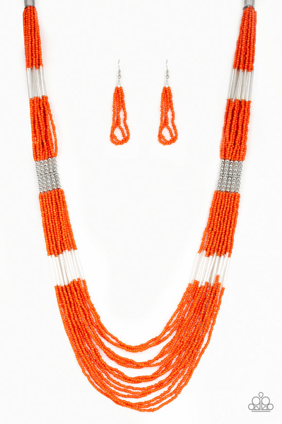 Let It BEAD - Orange necklace
