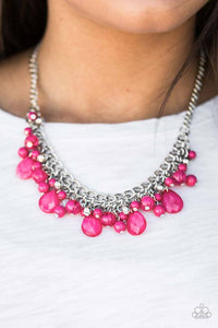 "Paparazzi Necklace & Earring Set, ""Flirty Flamenco - Pink"""