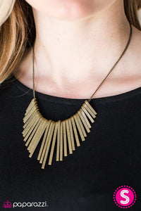 "Paparazzi Necklace/Earring Set ""Wild Walkabout - Brass"""
