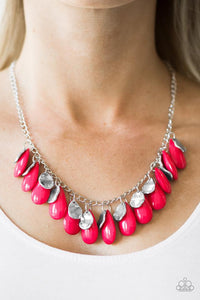 "Paparazzi Necklace & Earring Set ""Tropical Storm - Pink"""