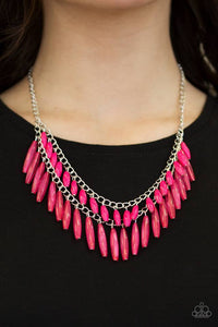 "Paparazzi Necklace & Earring Set, ""Speak Of The DIVA - Pink"""
