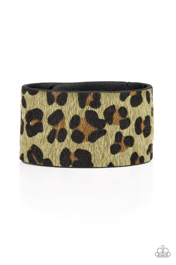 Cheetah Cabana - Green wrap bracelet