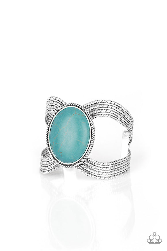 Coyote Couture - Blue cuff bracelet