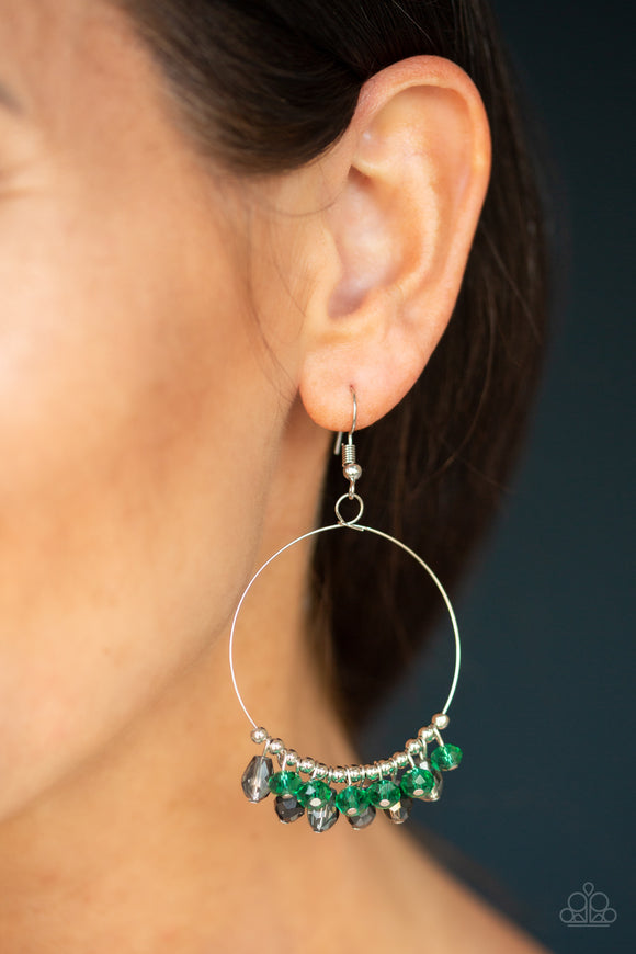 Crystal Collaboration - Green earrings