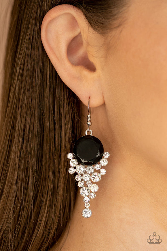 Elegantly Effervescent - Black earrings