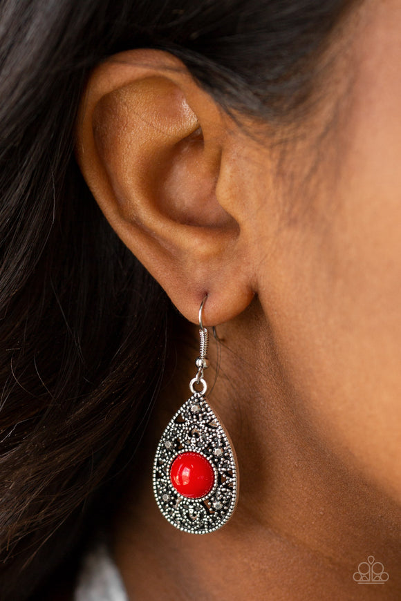 From POP To Bottom - Red earrings