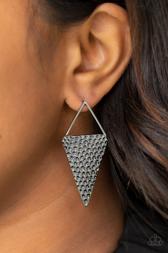 Have A Bite - Black post earrings