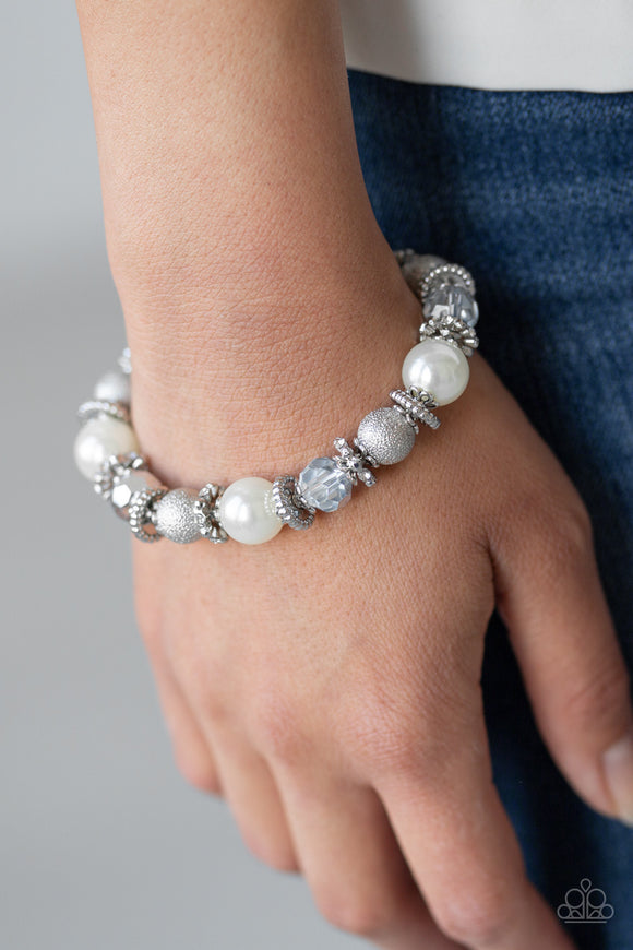 Sparking Conversation - Whites bracelet