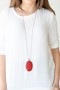 Stone Stampede - Red necklace set