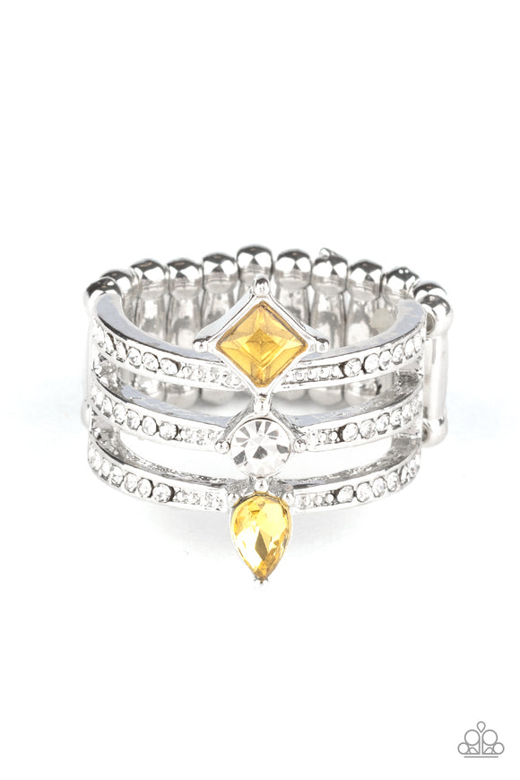 Triple Throne Twinkle - Yellow ring