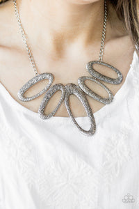 "Paparazzi Necklace & Earrings ""Easy, TIGRESS! - Silver"""