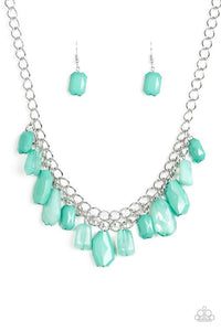 "Paparazzi Necklace & Earring set ""Glacier Goddess - Green"""
