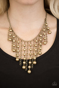 "Paparazzi Necklace/Earring Set ""STUN Control - Brass"""