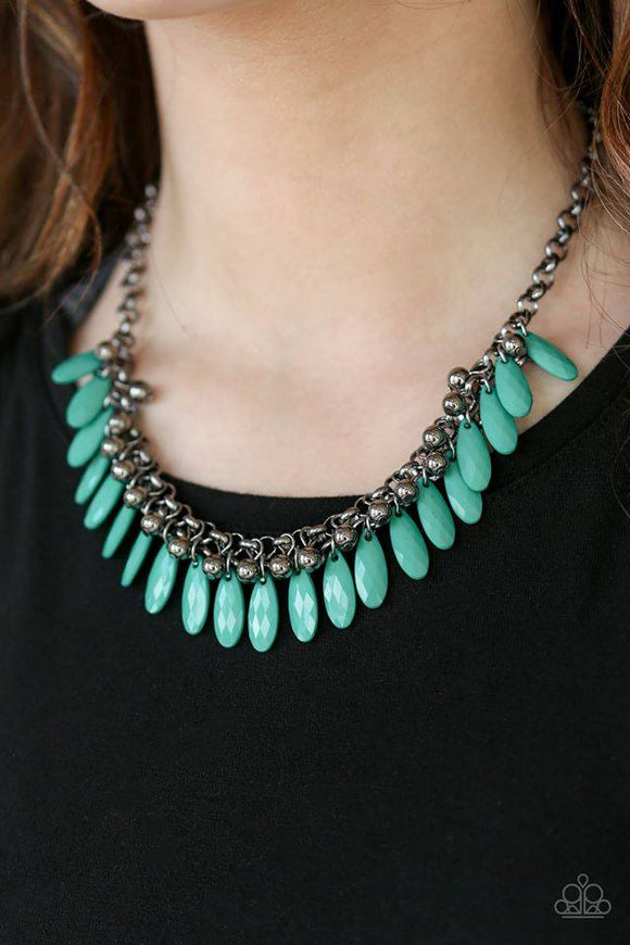 Jersey Shore - Green necklace