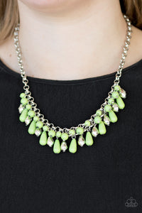 Coastal Cabanas - Green necklace set
