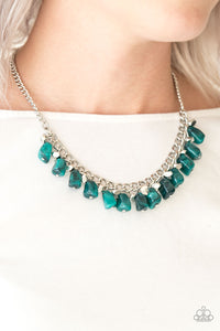 Rocky Shores - Green necklace set