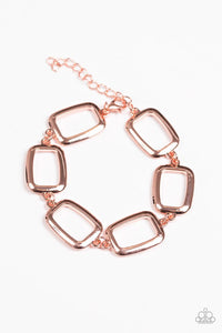 "Paparazzi Bracelet ""Basic Geometry - Copper"""