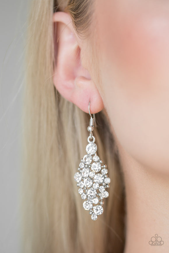 Cosmically Chic - White earrings