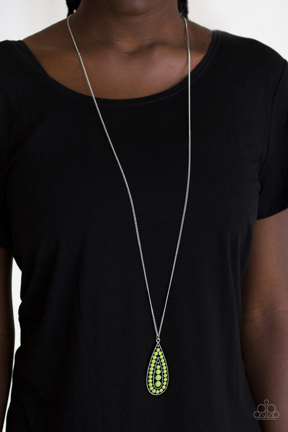 Tiki Tease - Green necklace set