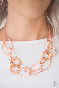 "Paparazzi Necklace/Earring Set ""Metallic Maverick - Copper"""