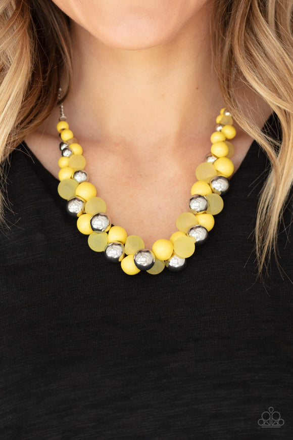 Bubbly Brilliance - Yellow necklace