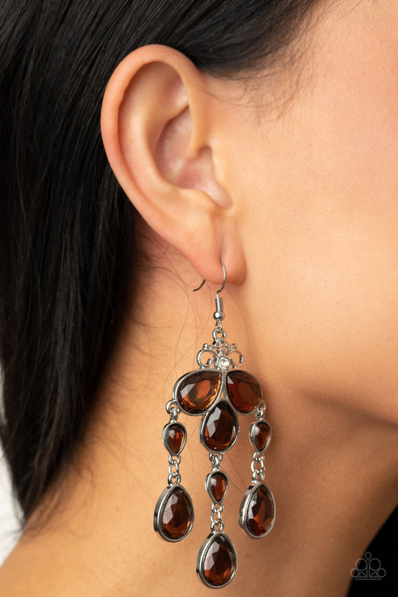 Clear The HEIR - Brown earrings
