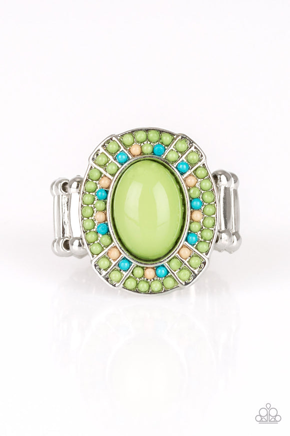 Colorfully Rustic - Green ring