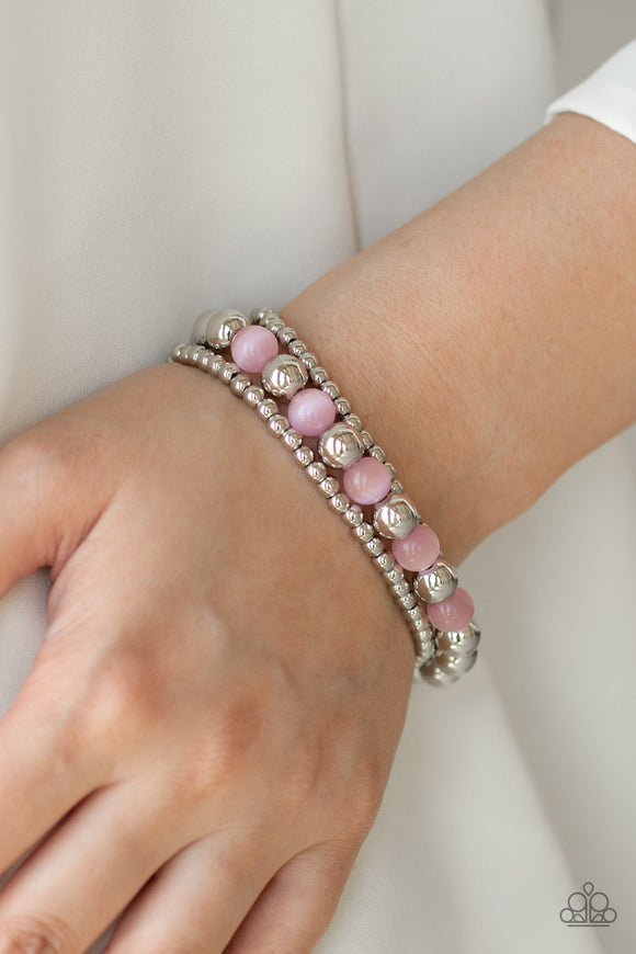 Go With The GLOW - Pink bracelet