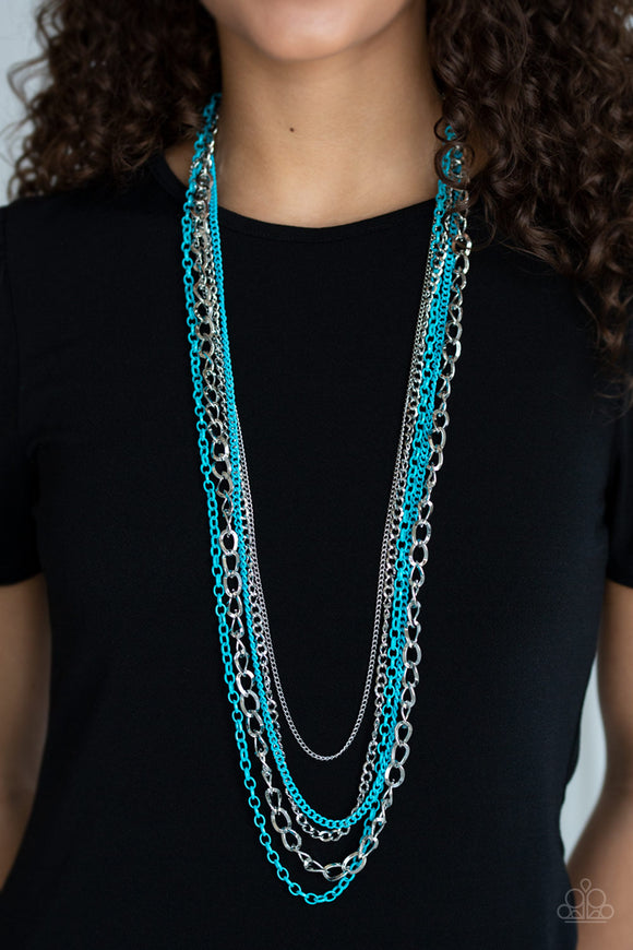 Industrial Vibrance - Blue necklace