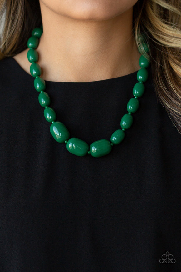 Poppin Popularity - Green necklace
