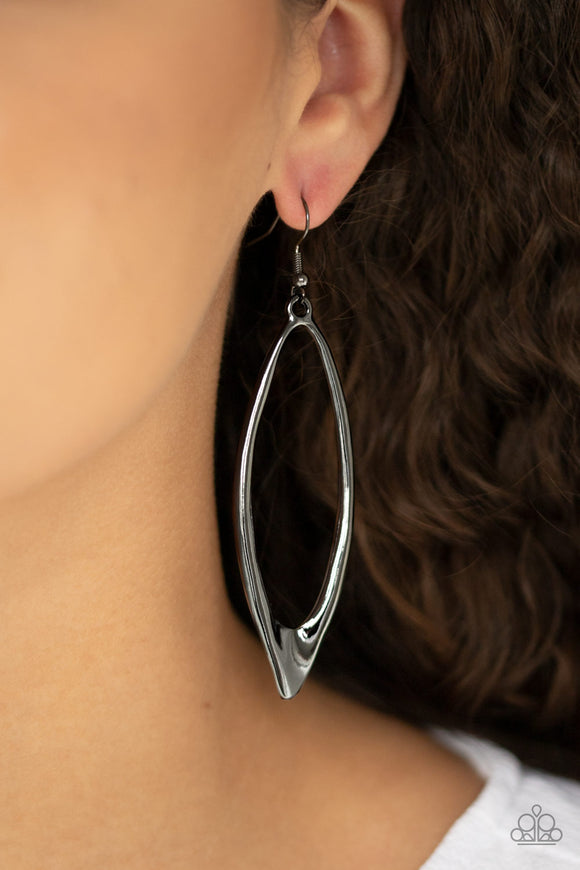 Positively Progressive - Black earrings
