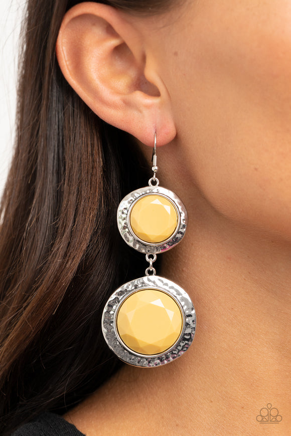 Thrift Shop Stop - Yellow earrings
