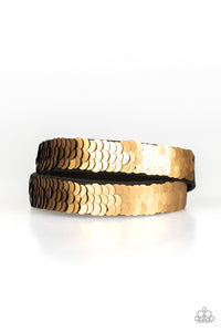 Under The SEQUINS - Gold sequin bracelet