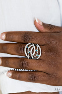 "Paparazzi Ring - ""Cosmic Compass - Blue"""