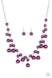 Soon To Be Mrs. - Purple necklace