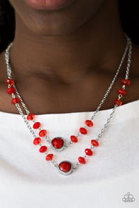 Gala Glow - Red necklace