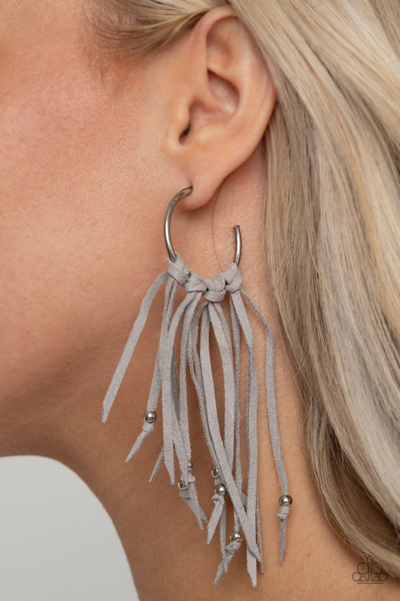 No Place Like HOMESPUN - Silver earrings