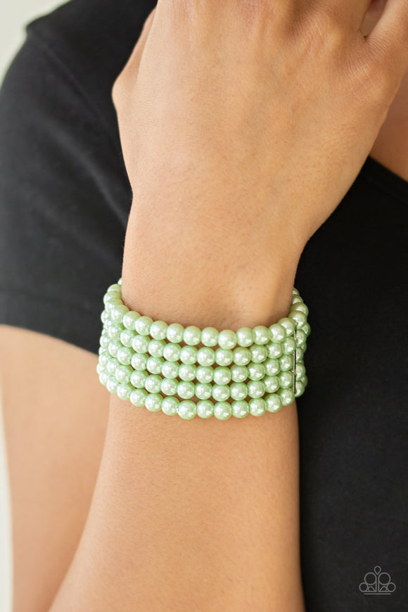 Pearl Bliss - Green bracelet