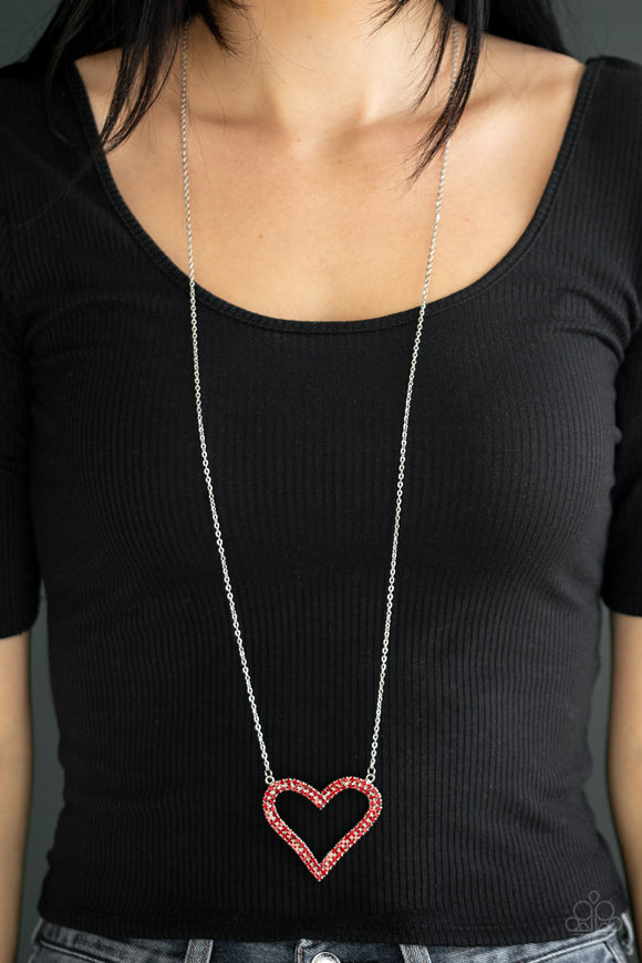 Pull Some HEART-strings - Red necklace