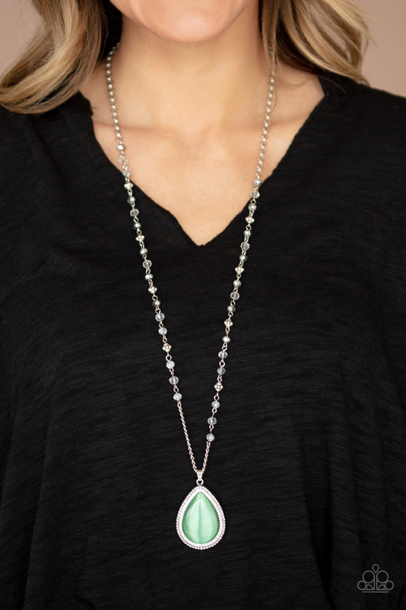 Fashion Flaunt - Green Moonstone necklace (July 2020 Life of the Party)